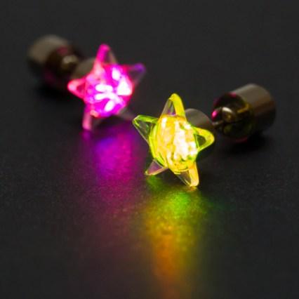 "LED auskari ""zvaigzne"" (krāsaini)"