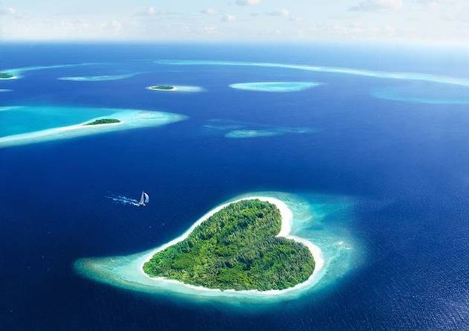 Most beautiful heart shaped islands in the world