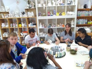 Theatre skills, Wednesday 3rd July, ceramic painting