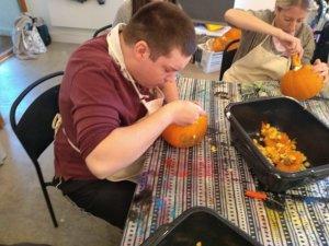 Tuesday 22nd October, CoCoEnterprise – pumpkin bird feeders