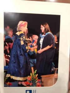 Congratulations Maria, Bachelor of Arts (Honours) in humanities (classical studies)