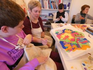 Monday 17th February 2020, CoCoCreatives – Silk painting and silk needle cases.