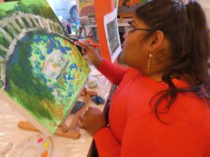 Monday 3rd February 2020, CoCoCreatives – Painting and silk painting.