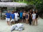 Coco Collection team cleaning the house reef.