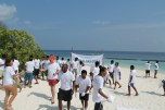 Guests and associates gather at Coco Bodu Hithi Breeze Beach