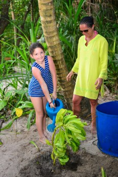 Guests plant trees at Coco Palm Dhuni Kolhu