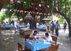 Associates enjoying their open air lunch