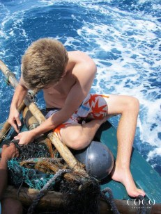 Taking net samples for the Olive Ridley Project