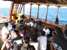 ORP training Coco Bodu Hithi Associates during a dedicated snorkelling trip