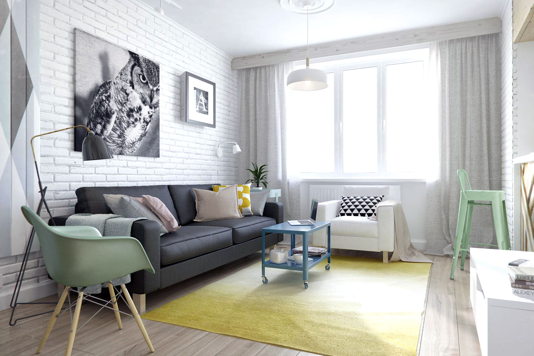 SMALL RUSSIAN STUDIO APARTMENT 500 SQUARE FEET IN PASTEL