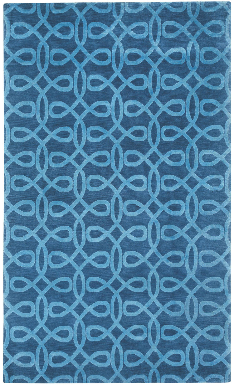 cococozy lyrical rug indigo blue living room design