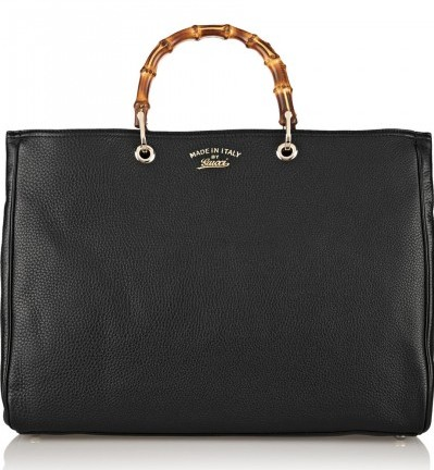 gucci-Bamboo-Shopper-large-textured-leather tote