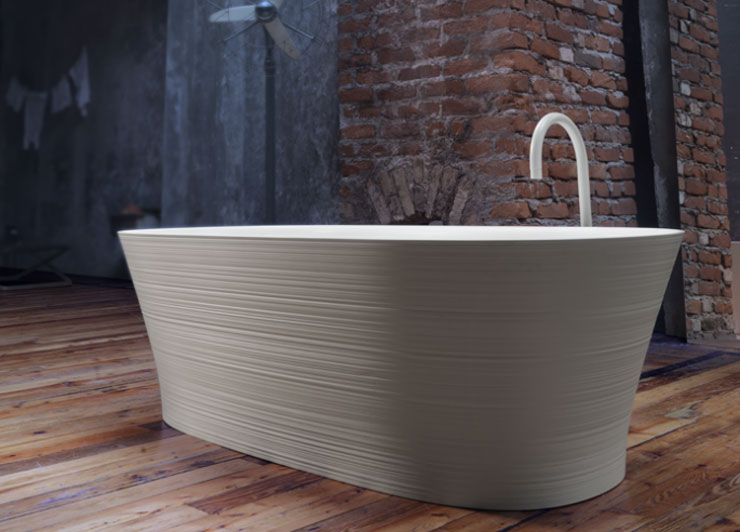 best freestanding bathtubs Falper textured tub