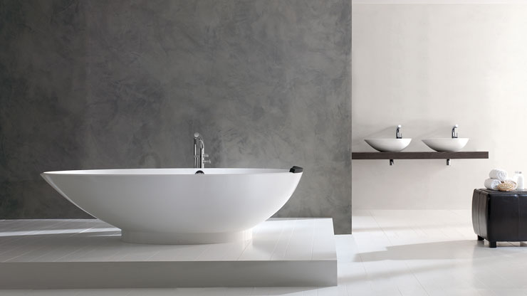 best freestanding bathtubs Victoria Albert asymmetrical almond shaped tub