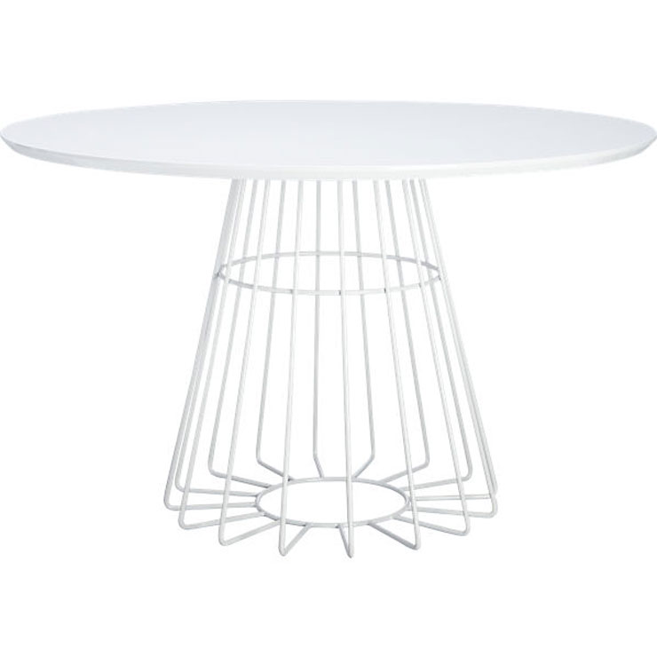 White modern dining room table