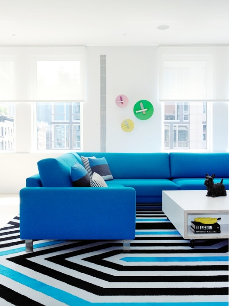 Colorful sofas - turquoise sofa