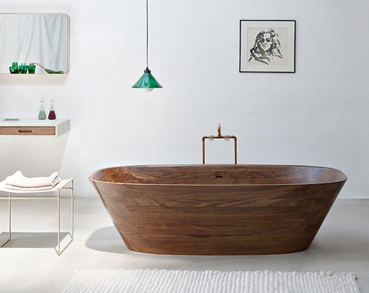 best freestanding bathtubs polished walnut wood tub