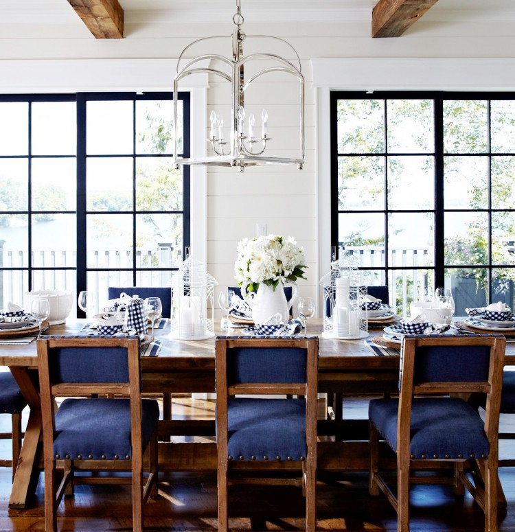 Modern Country Living Room Decor: Modern Country Cottage Dining Room