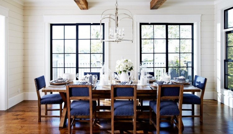 Modern country cottage dining room 7 design essentials for Dining room decor modern