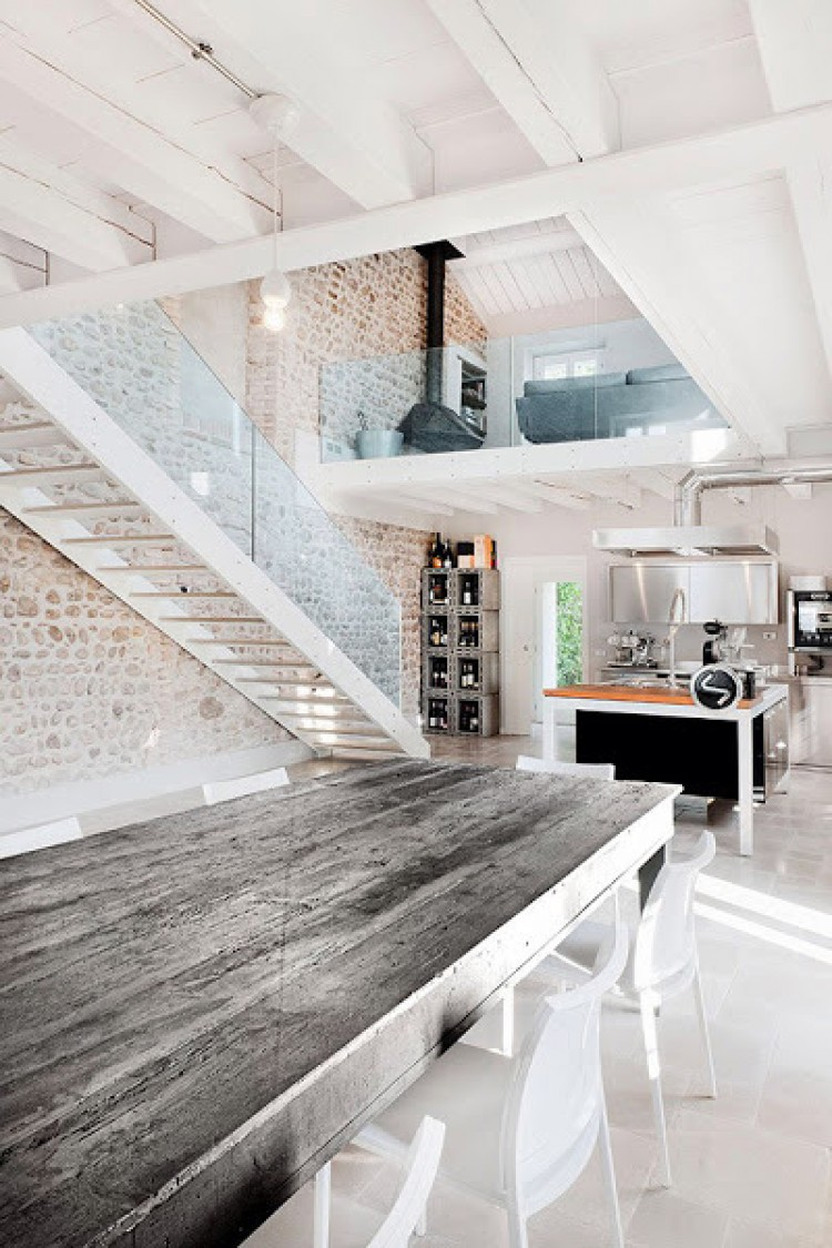 Old Farmhouse Renovation Modern Italian Interior