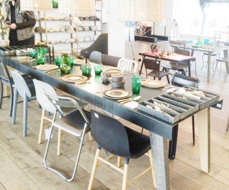 Metal Wood Dining Room Table