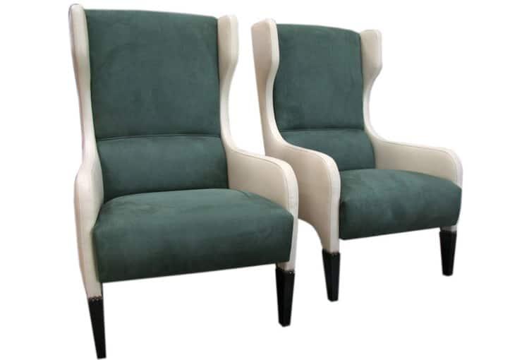 Gio Ponti Chairs Mid Century Modern Wingback Armchairs