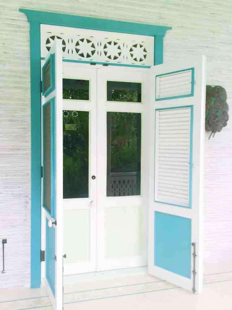 Turquoise Blue Shutter Door