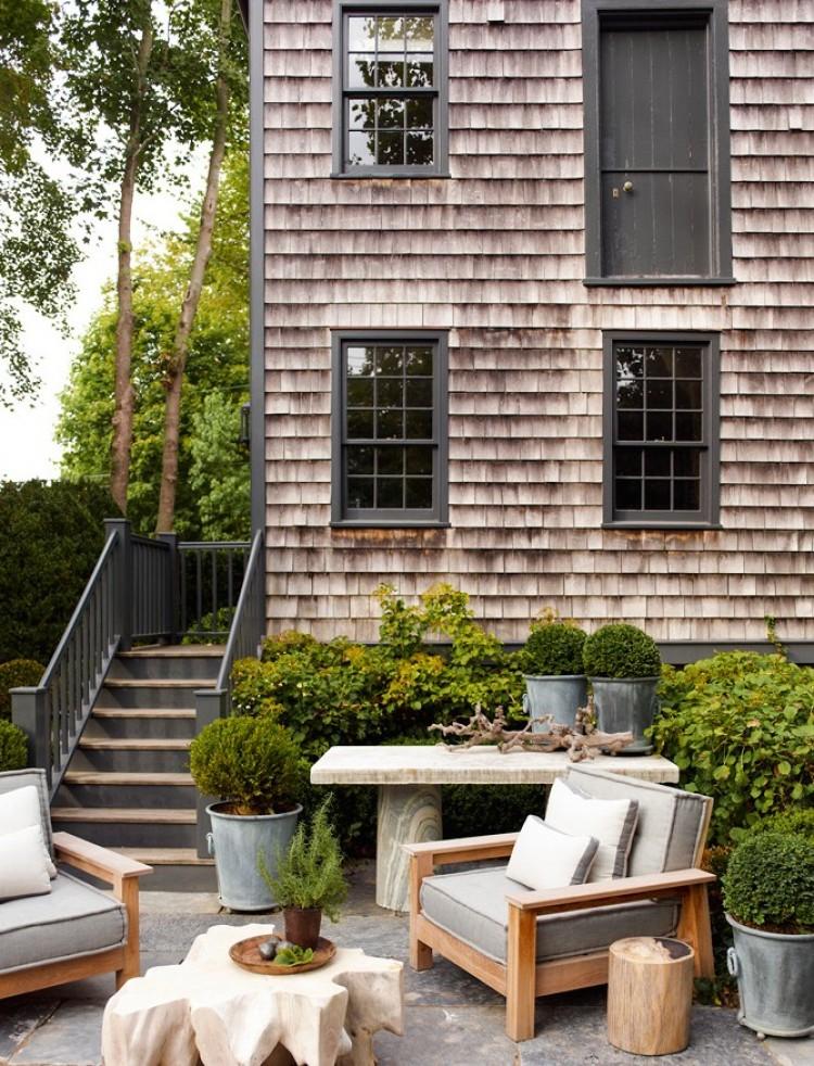 Sag Harbor Home Tour Garden Shingle Exterior