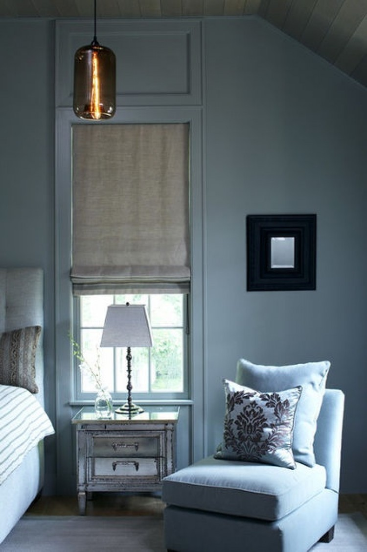 Monochromatic rooms blue bedroom