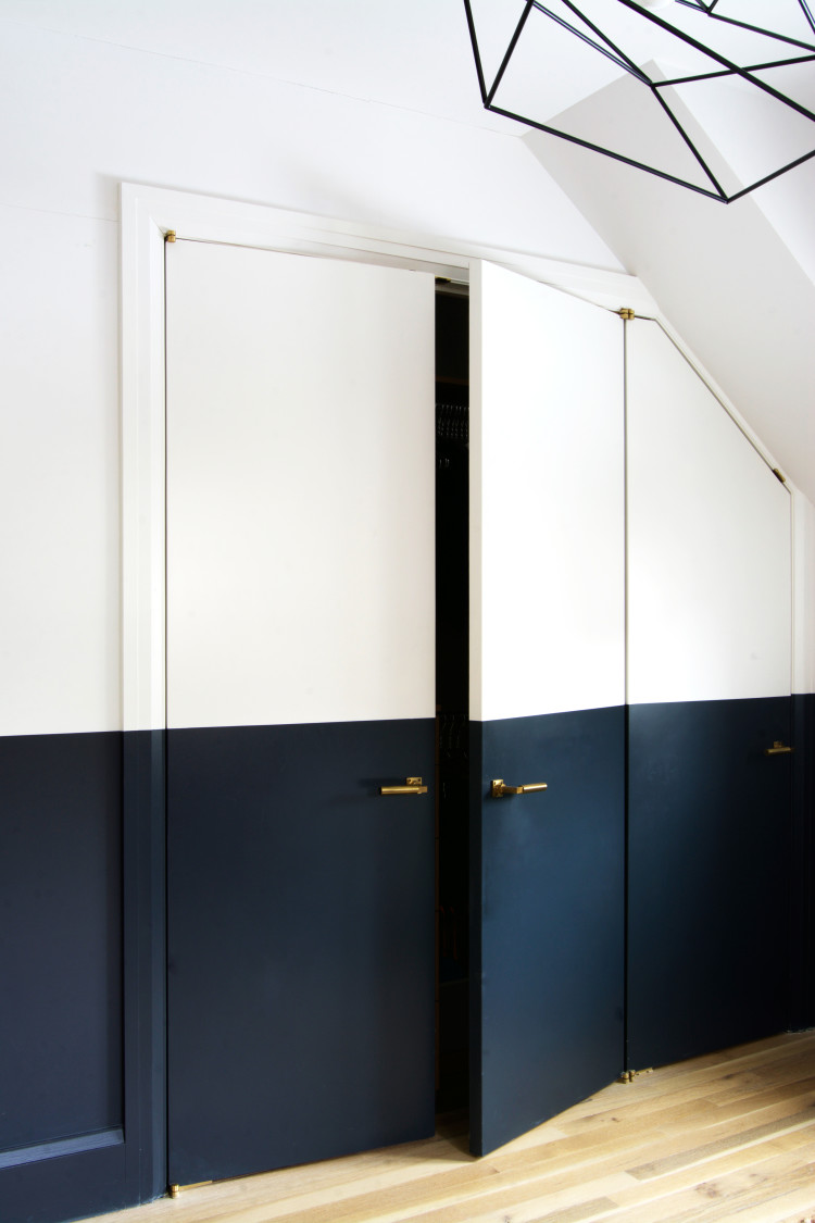 Two-Tone bedroom interior doors