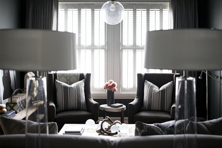 Monochromatic rooms gray living room