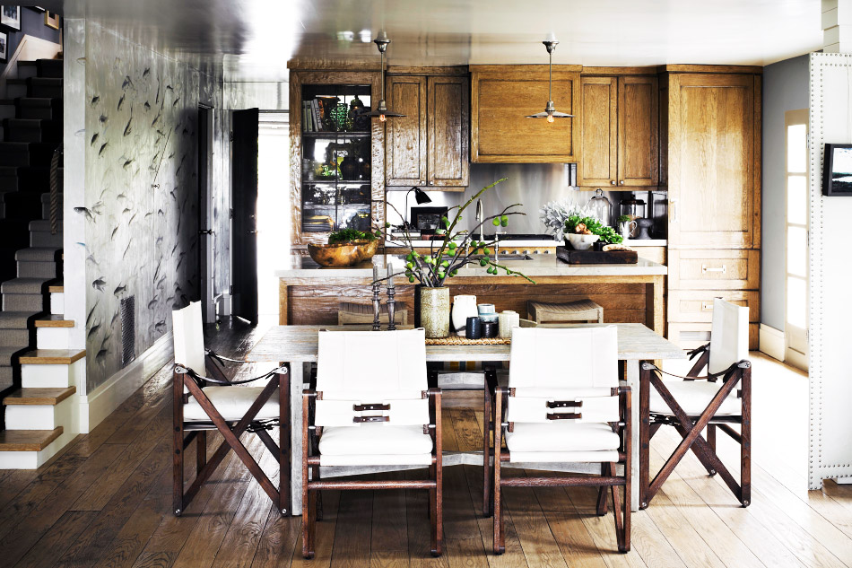 rustic kitchen open floor plan dining room cococozy jeffreyalanmarks