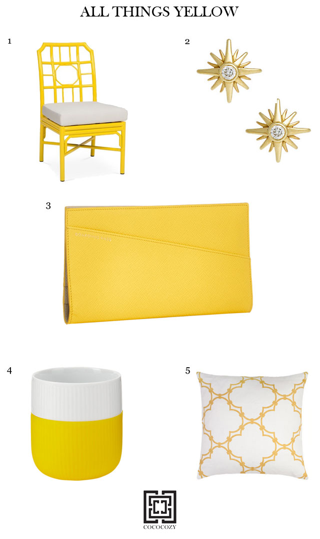 Shopping yellow accessories