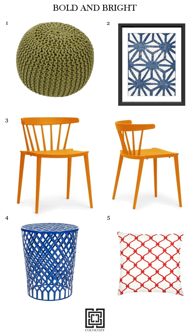 decorating ideas bright and colorful accents