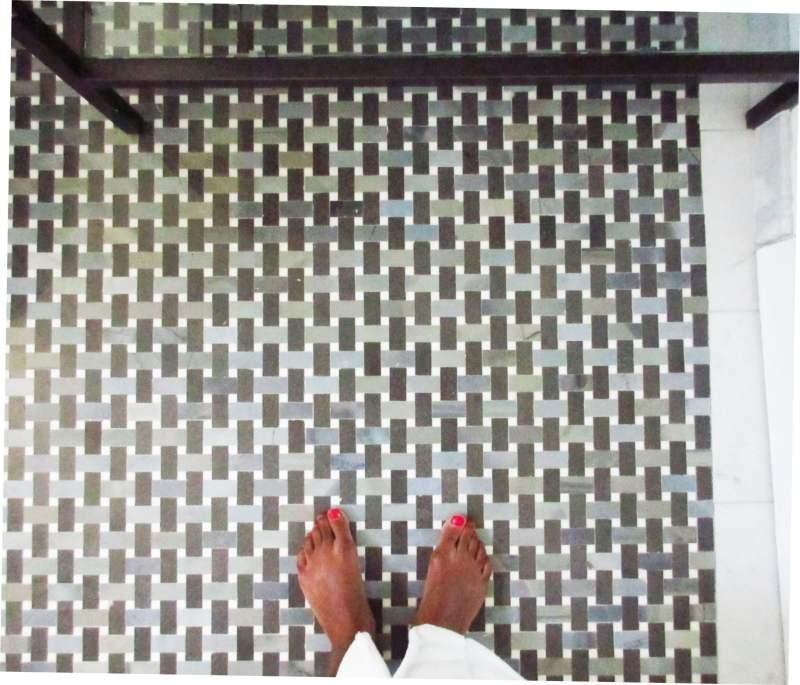 Moonstone Basketweave Mosaic Tile
