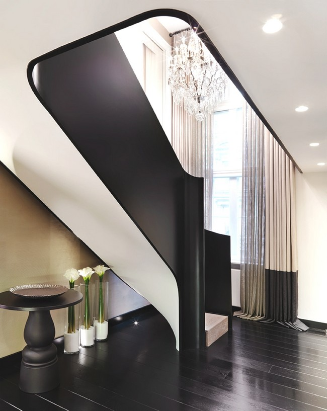 black white staircase architectism cococozy