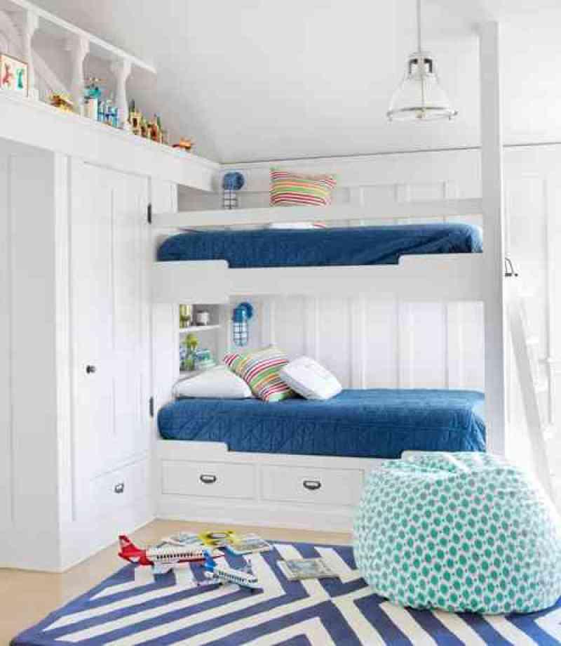 blue white bunk beds bunkrooms nautical