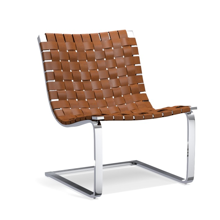 brentwood woven leather cantilever chairs william sonoma home cococozy