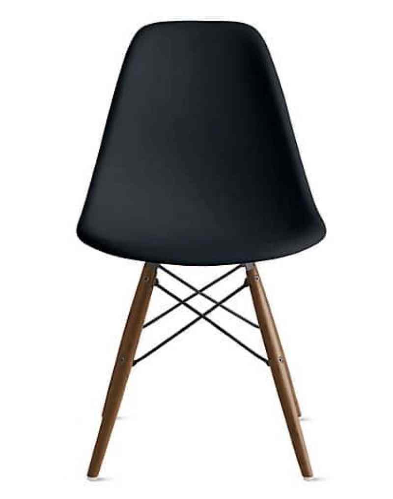 eames plastic molded chair black