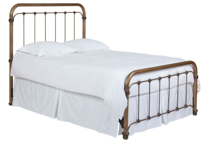 Unlacquered Brass Bed
