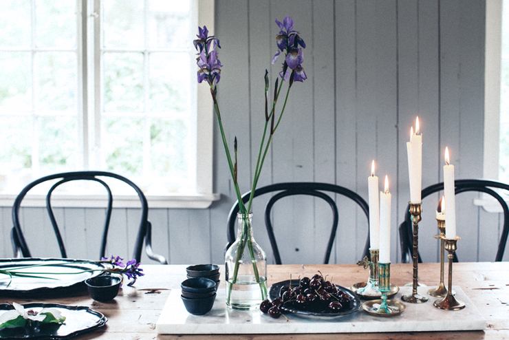 Dining room black bentwood chairs