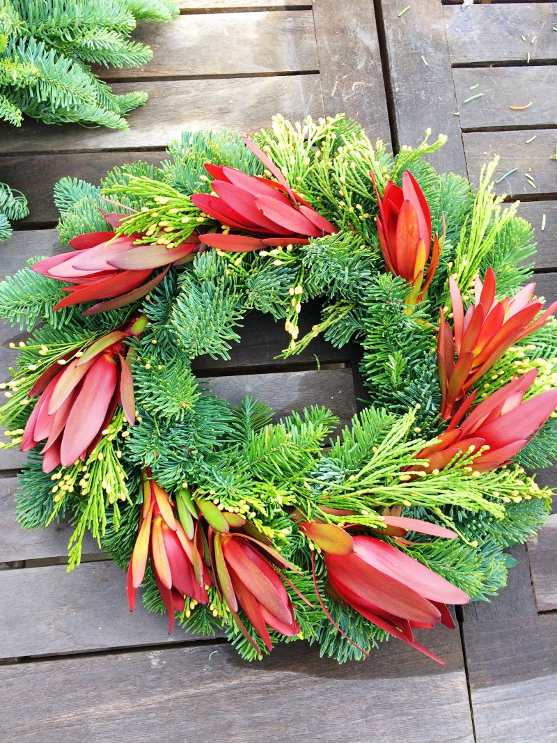 holiday wreath making diy pine Sunset Safari