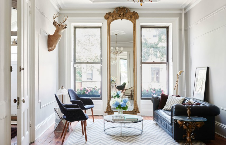 Brooklyn Brownstone Living Room