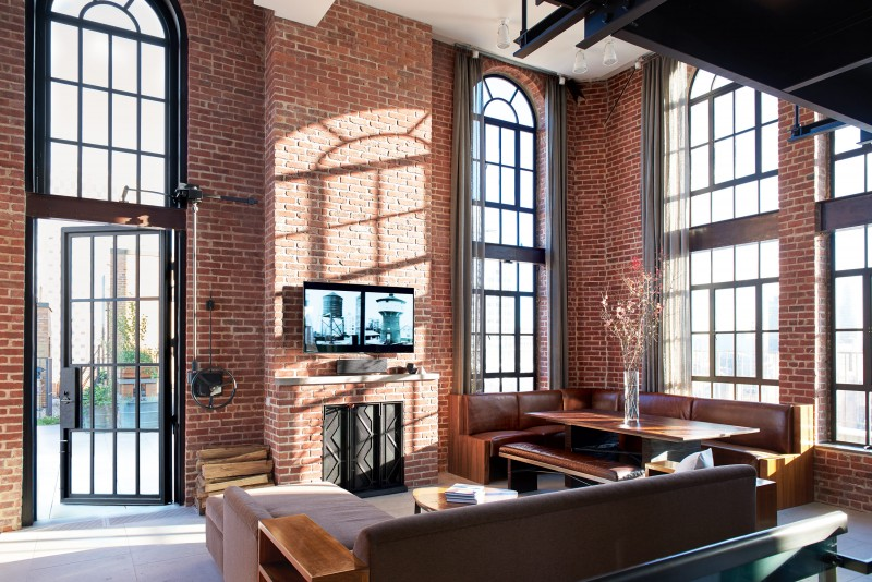 New York City Water Tower Apartment Living Room