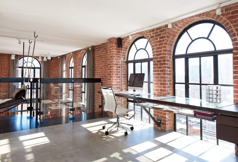 Etonnant Home Office Modern New York  Water Tower Apartment Exposed Brick  Cococozy Nymag