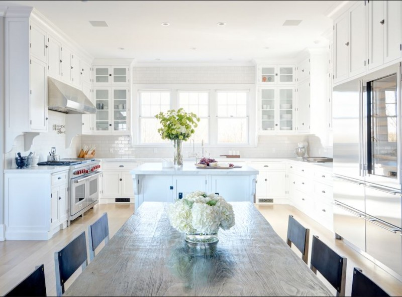 White Kitchen Open Floor Plan