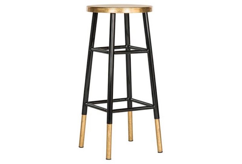 Iron Barstool Black Gold