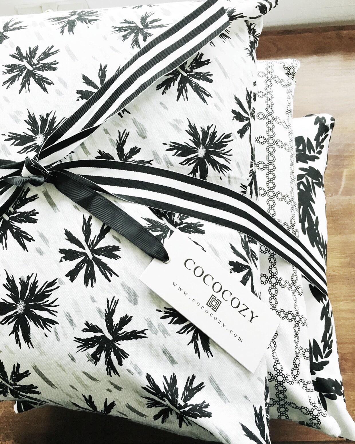 Black white Cococozy pillows