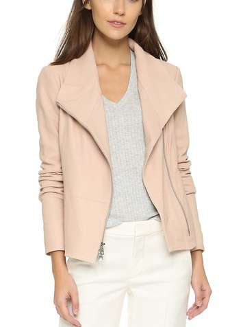Vince Blush Leather Jacket