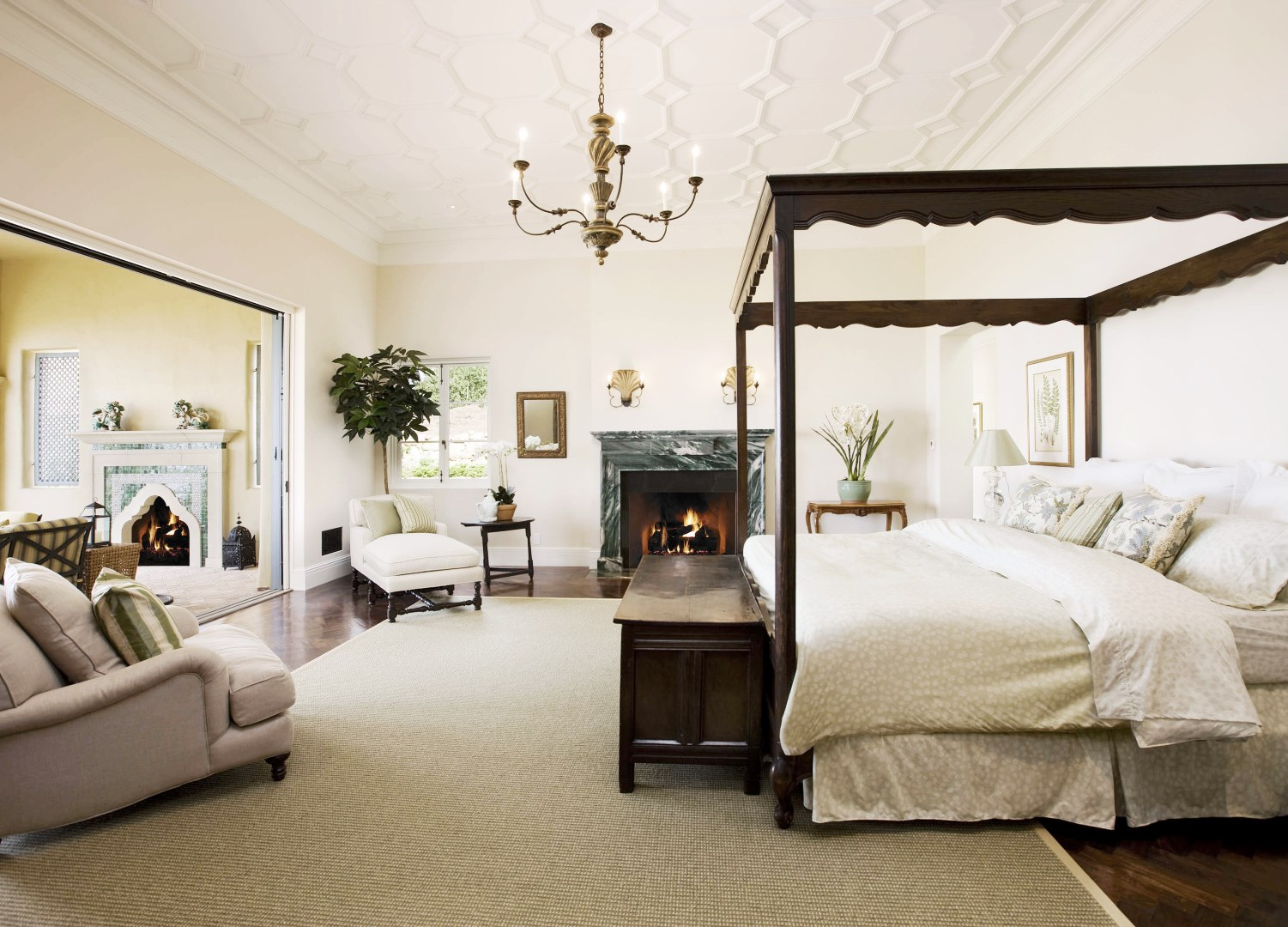 canopy bed master bedroom 45 million montecito mansion see this house cococozy 14698